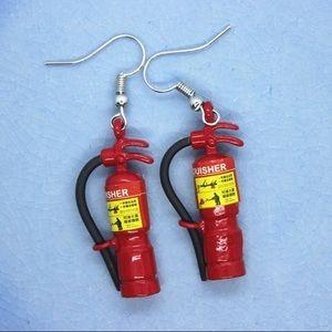 3/$20 ( if bundled) FIRE EXTINGUISHER earringsBoutique, used for sale